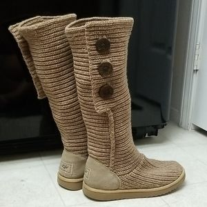 UGG classic tall knit sweater boots